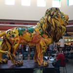 In the center of the food court in the mall was this magnificent lion.