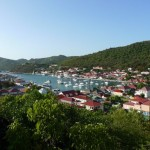 A view over Gustavia from Fort Karl. On Delay is in this photo too!