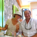 Pete and Gayle: First breakfast in Gustavia at La Petite Colombe Patisserie.