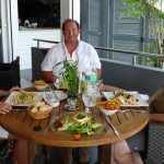 One of the many tasty French meals we enjoyed. This is lunch at the resto under the chandlery.