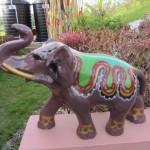 Detail: An elephant at the Lakshmi Narayan Temple.