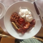 On our first visit, we had the beautifully prepared English breakfast.