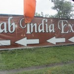 Sign on the highway advertizing the Fab India Expo.