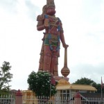 The 85 ft Hanuman Murti at the Dattatreya Mandir temple is the tallest murti outside India.
