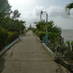 The paved path to the Temple in the Sea. Before the path, the temple could only be accessed at low tide.