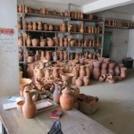 Lots of pots in the Radika's Pottery Factory, Chaguanas.