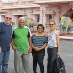 Classic tourist picture. At the temple: Tony, Harripaul, Maria and Jane.