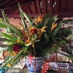 We were greeted with this stunning floral arrangement in the attractive bar/lounge/diningroom.