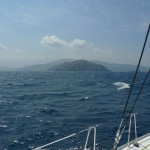 Approaching Santa Marta, our first landfall in Colombia.