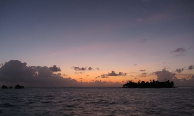 Daybreak at Haines Cay.