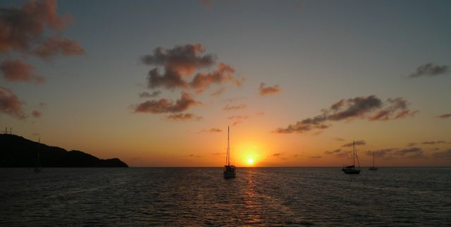 Our first sunset in Providencia.