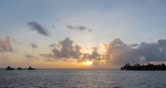 Sunrise at Haines Cay.