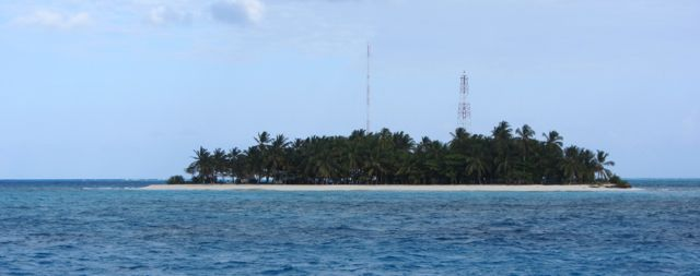 The other island at Cayo Bolivar is inhabited but not as photogenic.