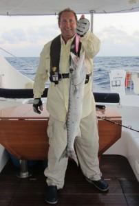 Pete and the big ocean barracuda.