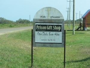 Yes, this is a real prison gift shop!