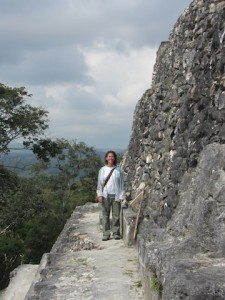 We climbed to the top, looking out over Cayo and appreciating a slight breeze.