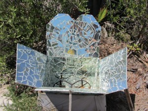 Solar oven and work of art.