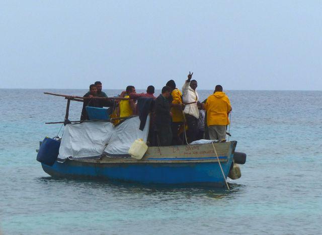 A boat full of Cubans.
