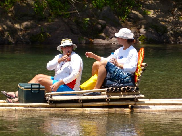 A close up of Pete and Gayle on their raft.