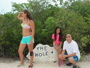 We visited the Hole and on the way out, were chased by rabid dogs!