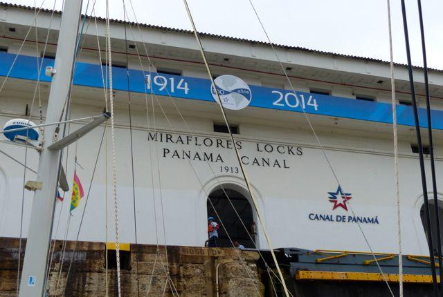 Miraflores Locks building.