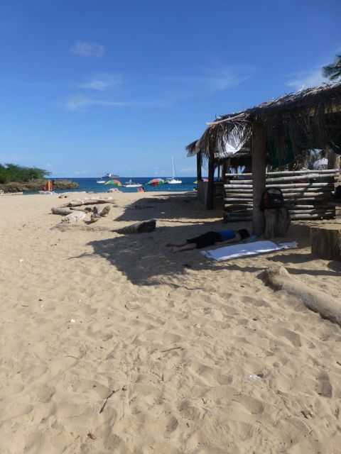 The beach at Taboga.