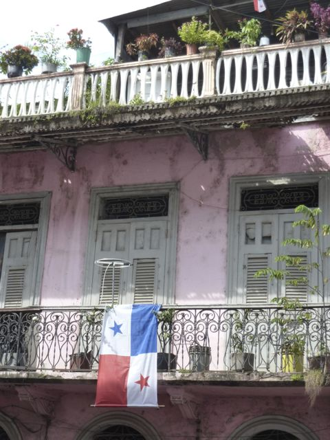 A typical building in Casco Antiguo.