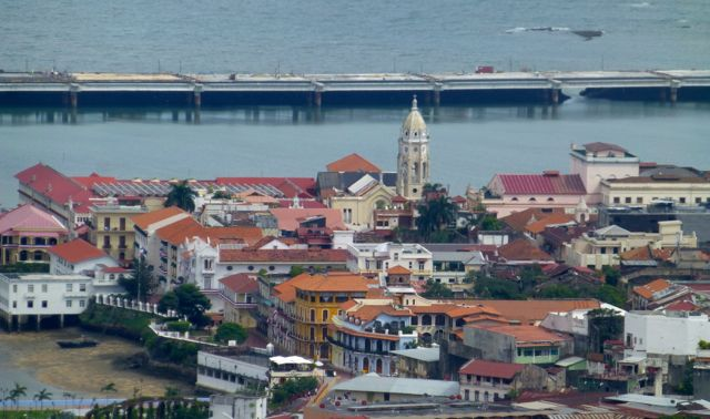 Casco Antiguo viewed from Ancon Hill.