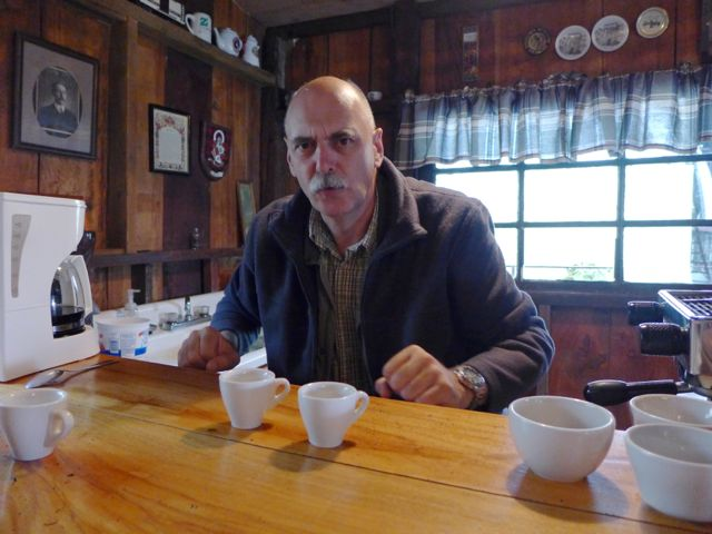 "The tour ended with coffee tasting. Hans explained to us how the professionals ""cup"" coffee. We sampled light, medium and dark roasts, plus, as a special treat at the end, the organic blend."