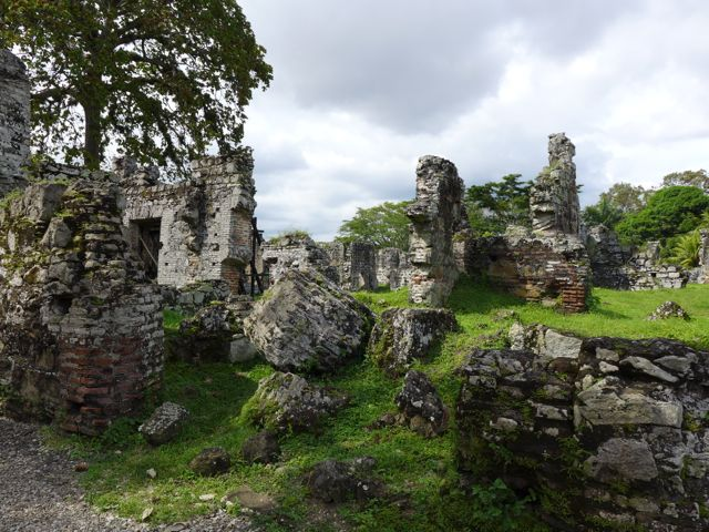 The ruins of Panama Viejo sacked by Captain Morgan in 1671.