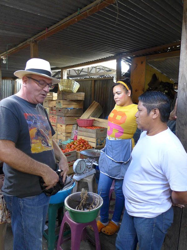 Buying an Iguana in Antigua, Guatemala