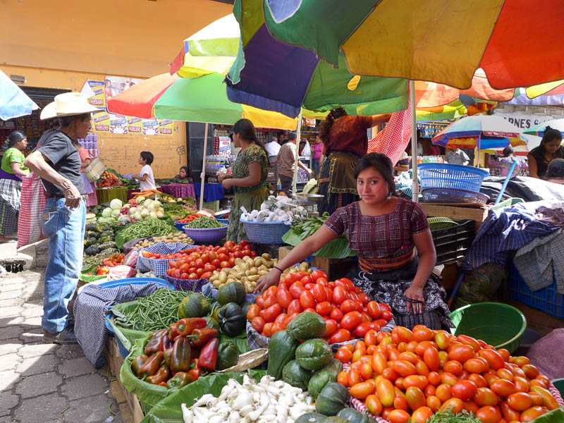 A Vendor in Antigua Market